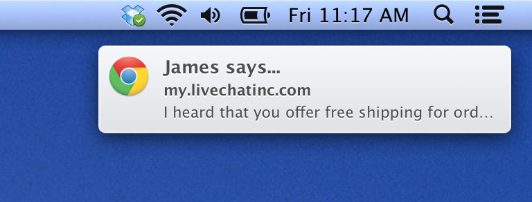 Desktop notifications in LiveChat