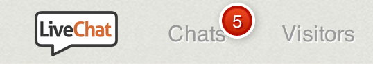 Red badge notification in LiveChat