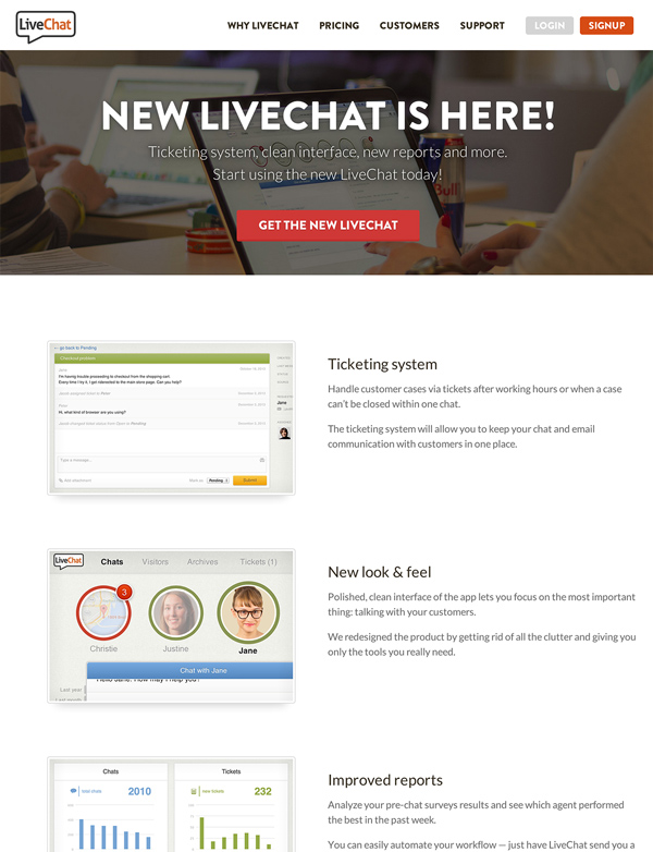 New Livechat is here website