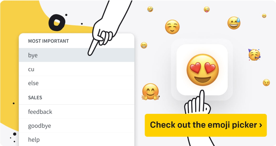Check out the emoji picker ›