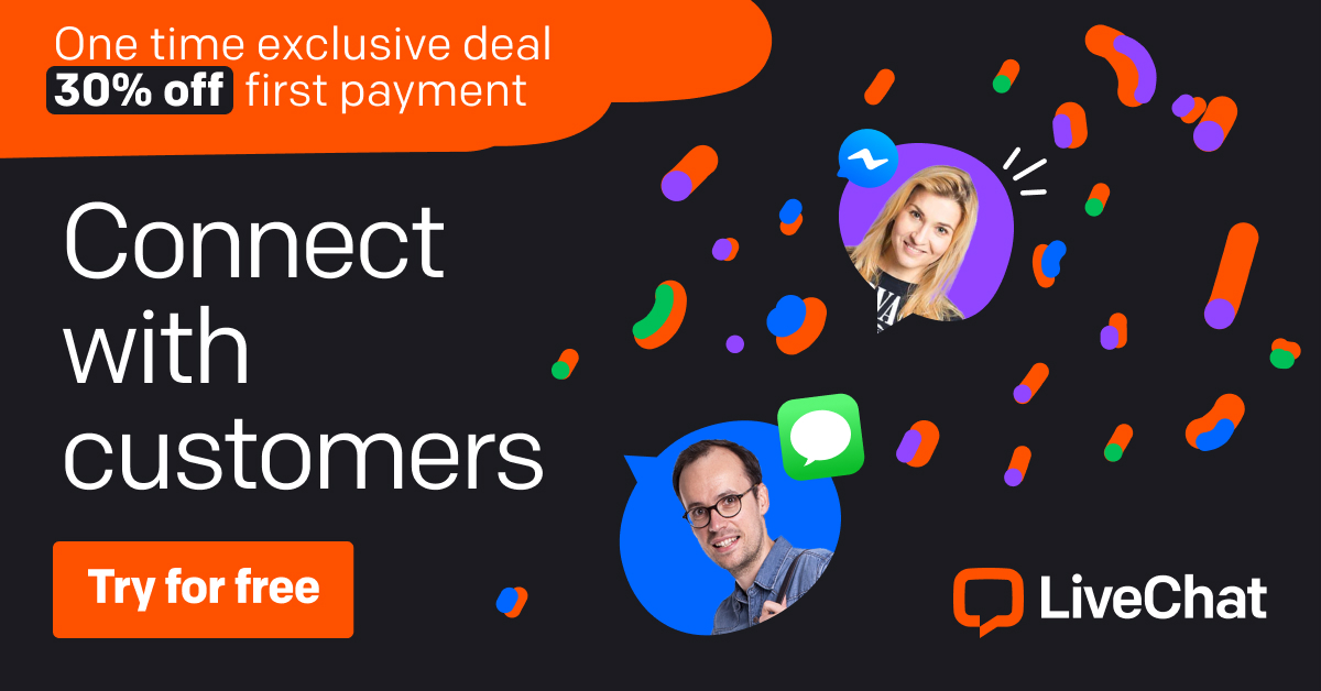 LiveChat - connect with customers