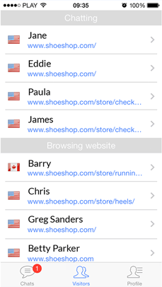 Identify customers in chat with LiveChat iPhone app