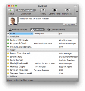 LiveChat for Mac beta