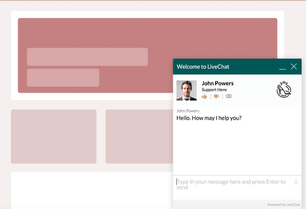 Changing icon color for LiveChat chat window