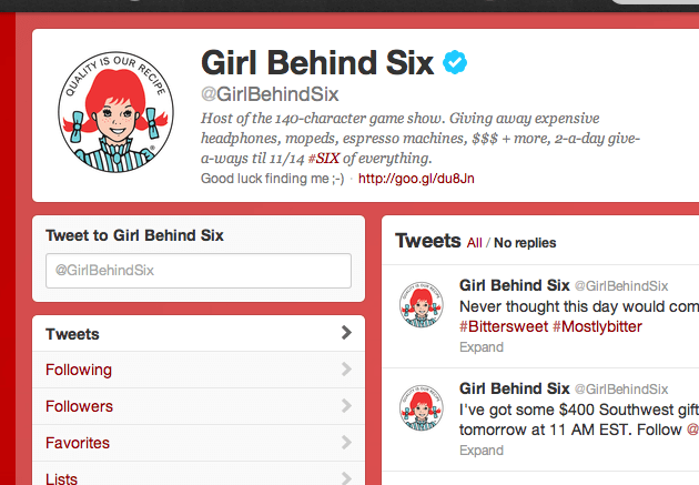 Wendy's Girl Behind Six