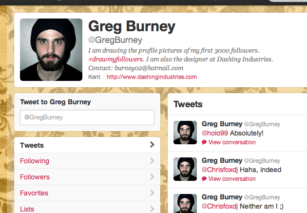 Greg Burney's #DrawMyFollowers