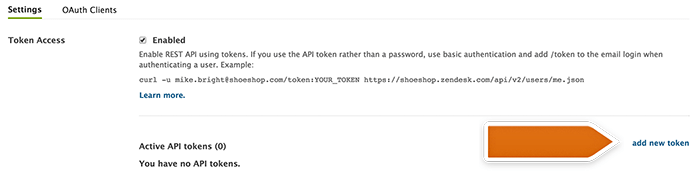 Generating new token in Zendesk