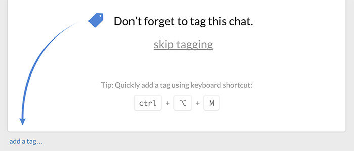 Tag reminder message in chat