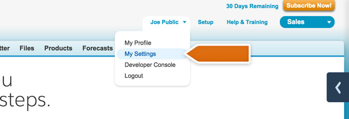 Accessing profile settings in LiveChat