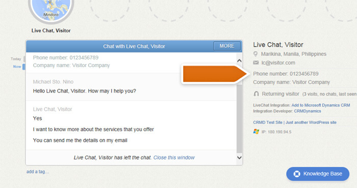 Microsoft Dynamics CRM Integration with LiveChat
