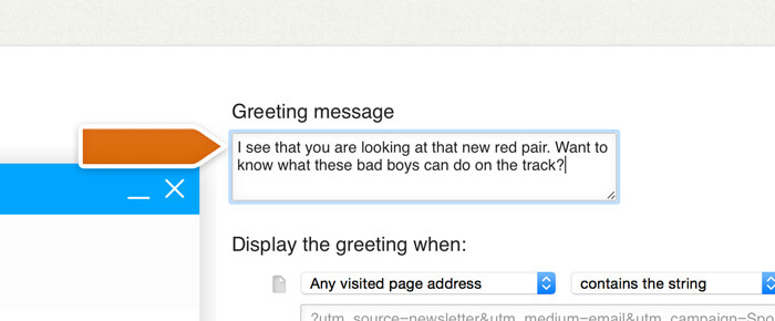 Adding a greeting message for an email marketing campaign