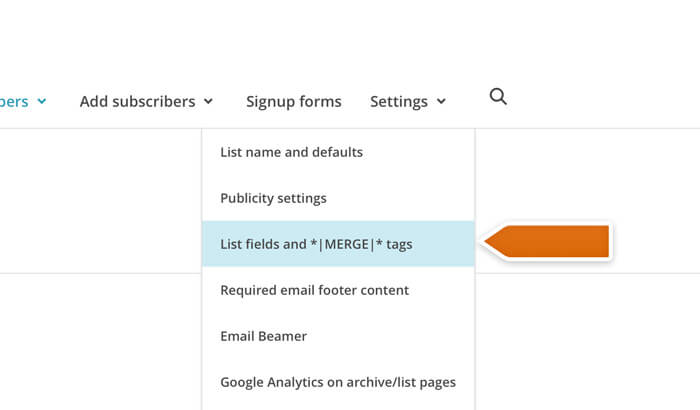 Accessing list fields and merge tags