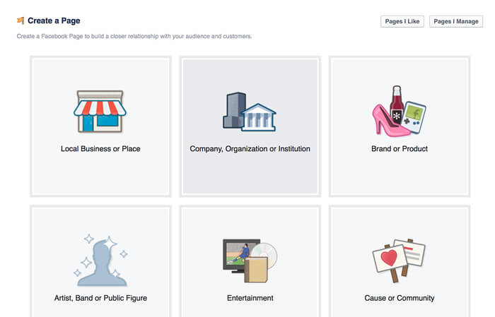 facebook how to go to main page from location page