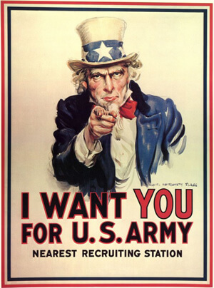 I want you Uncle Sam call to action poster