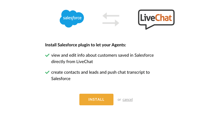 Salesforce plugin installation screen