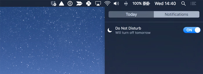 Using the Do not disturb mode as one of time management methods