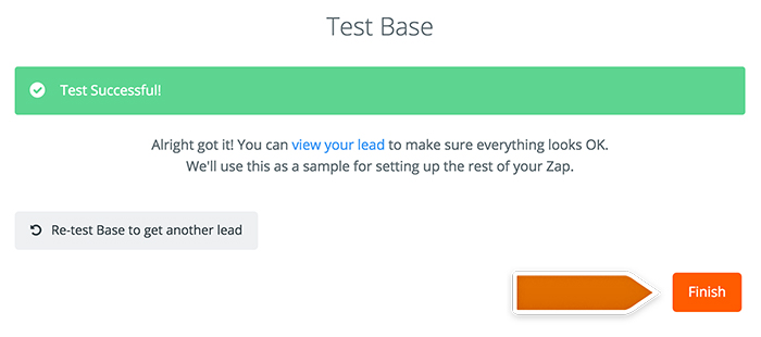 Base CRM integration: Testing Base