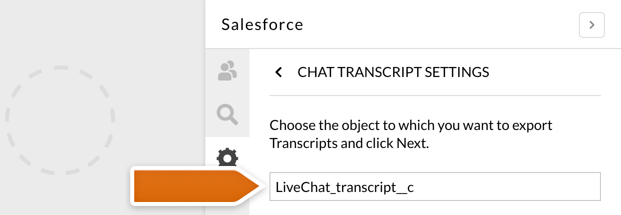 Attaching transcript to the old Salesforce integration