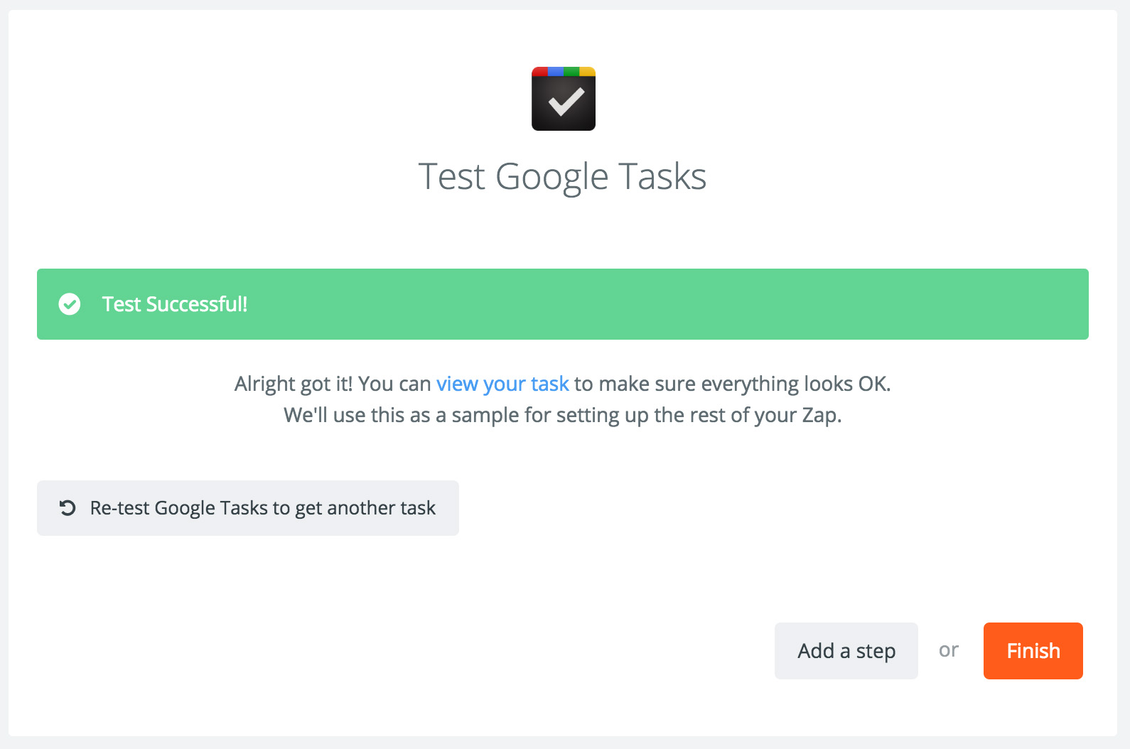 Finalizing the Google Tasks Integration